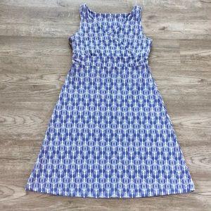Eddie Bauer - V-neck Sleeveless Midi Dress - Blue